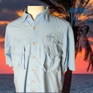 Guy Harvey Embroidered Button-Down  Fishing Shirt